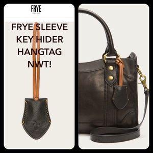 🔥Frye Leather Bag Charm Key Hide Charm Fob NWT